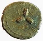 reverse: Mondo Greco. Apulia. Arpi. 215-212 a.C. Triobolo. Ag. D/ Testa di Athena a sinistra. R/ Tre spighe d orzo disposte a raggiera. Nei settori AP-Π-A. HN(Italy) 646. SNG Cop. 601. Peso gr. 1,5. Diametro mm. 16,7. BB. RR. §.