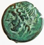 obverse: Mondo Greco. Apulia. Arpi. ca. III sec. a.C. Ae. D/ Testa di Zeus verso sinistra. R/ Protome di cinghiale verso destra. Peso 3,35 gr. Diametro 14,00 mm. SPL. R. §