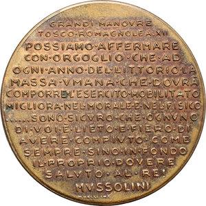 R/  Medaglia Grandi Manovre Tosco-Romagnole A.XII.     AE.   mm. 40.00    qSPL.