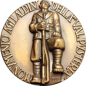 D/ Brunico.  Medaglia commemorativa agli alpini della 'Valpusteria' 5 Giugno 1938.     AE.   mm. 50.00 Inc. Affer.   SPL.