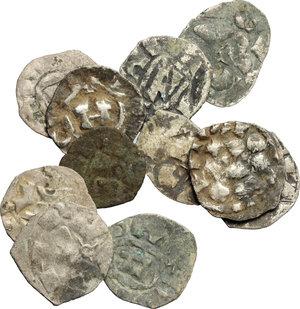 obverse: Lucca.  Lotto di 11 monete: denari per Lucca e Pisa.