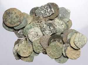 obverse: Lucca.  Lotto di 60 monete da classificare: prevalenza di denari per Lucca e Pisa, qualche tipologia discostante per Siena e Pisa.