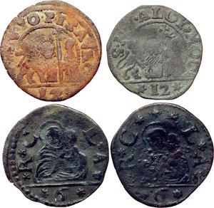obverse: Venezia.  Lotto di quattro monete in rame.     AE.
