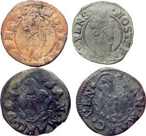 reverse: Venezia.  Lotto di quattro monete in rame.     AE.