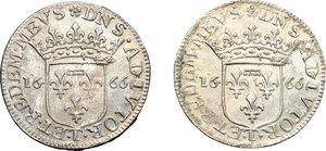 reverse: Tassarolo.  Lotto di due luigini 1666.     AG.      BB+.
