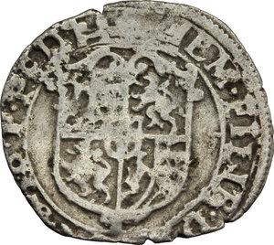 obverse: Casa Savoia. Emanuele Filiberto Duca (1559-1580). Soldo II tipo 1570.    MIR 534. MI.    NC.  qBB/BB.
