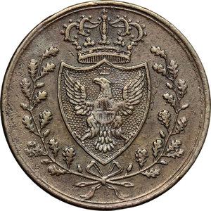 obverse: Regno di Sardegna. Carlo Felice (1821-1831). Centesimo 1826 Bologna.    Pag. -. Mont. 142. CU.    R.  BB/BB+.