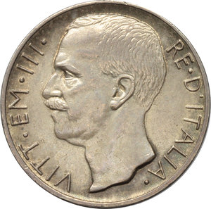 obverse: Regno di Italia. Vittorio Emanuele III (1900-1943). 10 lire 1927 **.    Pag. 692. AG.      qSPL.