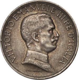 obverse: Regno di Italia. Vittorio Emanuele III (1900-1943). 1 lira 1915.    Pag. 773. AG.    NC.  BB/SPL.