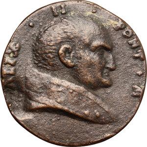 obverse: Alessandro II (1061-1073), Anselmo da Baggio. Medaglia di restituzione.     AE.   mm. 39.00    Bel BB.