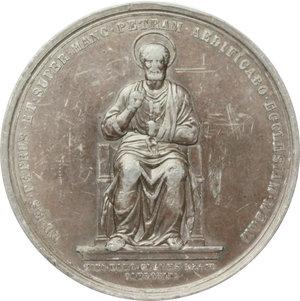 obverse: Pio IX  (1846-1878), Giovanni Mastai Ferretti. Medaglia 23 agosto 1871, Giubileo pontificale.    Bart.XXVI-10. PB.   mm. 74.00    BB.