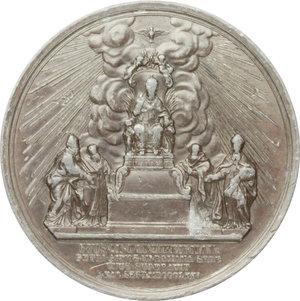 reverse: Pio IX  (1846-1878), Giovanni Mastai Ferretti. Medaglia 23 agosto 1871, Giubileo pontificale.    Bart.XXVI-10. PB.   mm. 74.00    BB.