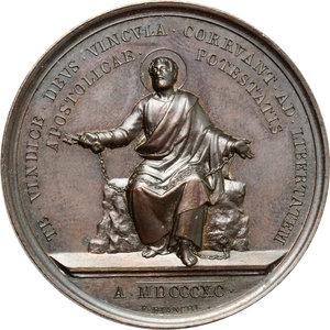 reverse: Leone XIII (1878-1903), Gioacchino Pecci. Medaglia A. XIII.    Bart. E. 890. AE.   mm. 43.80 Inc. F. Bianchi.   SPL.