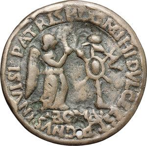 reverse: Pompeo Magno. Medaglia.  D/ POMPEVS MAGNVS. Busto a sinistra. R/ Vittoria incorona trofeo.  AE.   mm. 56.00    BB.