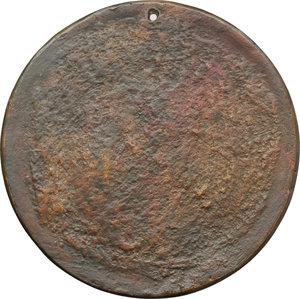 reverse: Agnesia Teg de  Bonini. Medaglia fusa uniface, circa metà del XVI secolo.    Attwood 697. AE.   mm. 84.00   Fusione posteriore. Bel BB.