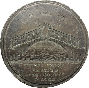 obverse: Venezia. Napoleone (1804-1815). Placchetta uniface del R/ della medaglia 1805 per la restituzione di Venezia all Italia.    Bramsen 460. PB. g. 15.78  mm. 41.00 Inc. 40.5. R.  BB.