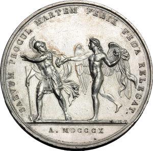 reverse: Milano. Napoleone (1804-1815). Medaglia 1810 per le nozze con Maria Luigia d Austria.    Julius 2272. AE argentato. g. 41.00  mm. 42.80    BB+.