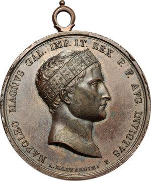 obverse: Napoleone I (1804-1814). Medaglia 1809 per la battaglia di Wagram.     AE.   mm. 43.00    qSPL.