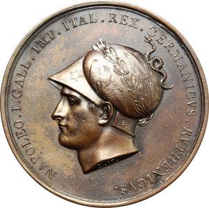 obverse: Napoleone I (1804-1814). Medaglia 1805 per la presa di Vienna.   R/ VINDOBONA CAPTA ANNO MCCMV.  AE.   mm. 43.00 Inc. Manfredini.   BB+.