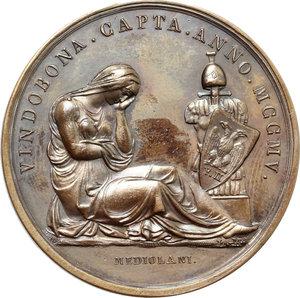 reverse: Napoleone I (1804-1814). Medaglia 1805 per la presa di Vienna.   R/ VINDOBONA CAPTA ANNO MCCMV.  AE.   mm. 43.00 Inc. Manfredini.   BB+.