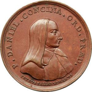 obverse: Venezia. Daniele Concina (1687-1756), teologo. Medaglia ultimo quarto XVIII secolo (1789).    Volt. 1723. AE.   mm. 49.00 Inc. P. Balzar.   SPL.