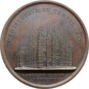 reverse: Milano. Carlo Gaetano Gaysruck, Cardinale. Medaglia 1818 MAGISTERIUM IN TEMPLO MAX.     AE.   mm. 62.00   Lievi colpetti, altrimenti qSPL.