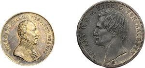 obverse:  Lotto di 2 lamine del D/ di medaglie.     AE.