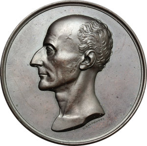 obverse: Firenze. Neri Corsini (1771-1845). Medaglia commemorativa 1846.     AE.   mm. 54.00    qSPL.