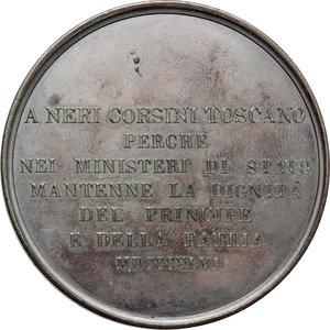 reverse: Firenze. Neri Corsini (1771-1845). Medaglia commemorativa 1846.     AE.   mm. 54.00    qSPL.