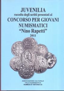 D/ AA.VV. Juvenilia: raccolta di scritti numismatici. Formia, 2011. pp. 189, ill. e tavole nel testo. ril. ed. buono stato.