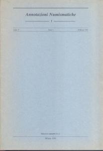 D/ Annotazioni Numismatiche n. 1 contiene Martini R. L'asse di Claudio per Lugdunum.. Veronelli G. Note sull' emissione in oricalco di Q. Oppius. e altri studi. Milano, 1991. pp. 16, con illustrazioni nel testo. brossura editoriale