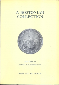 D/ Bank Leu AG. Auction 51. Zurich 24 - October 1990. A Bostonian Collection. pp. 414, nn. 2349,ill. nel testo b\n. ril. ed. buono stato