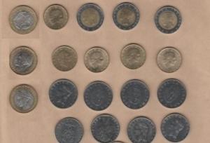 obverse: ITALIA, Repubblica, Lotto 19 monete FDC (NON SI ACCETTANO RESI)