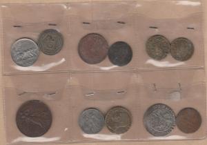 obverse: LOTTO di 11 pezzi (1 peso, 2 monete 1 in argento, 1 bronzo da catalogare, 1 gettone, 7 pezzi di V.E. III. (NON SI ACCETTANO RESI)