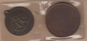 obverse: VERONA, LOTTO di 2 medaglie da catalogare (NON SI ACCETTANO RESI)