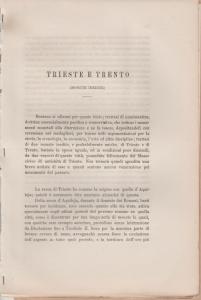 D/ Kunz Carlo. Trieste e Trento, monete inedite. Trieste, 1877 pp. 12, tav. 1 molto raro