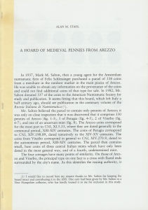 D/ Sthal Alan M. A hoard of medieval pennies from Arezzo. Milano, 1988 pp. 12, ill.