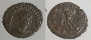 D/ Claudius II (268-270 AD) AE Antoninianus. D/ IMP C CLAVDIVS AVG, radiate, draped, cuirassed bust right. R/ IOVI STATORI, Jupiter standing lExtremely Finet, head right, holding sceptre and thunderbolt. RIC 52 Very Fine