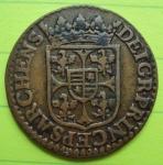 R/ CHARLEVILLE, Carlo I Gonzaga Nevers duca di Mantova (1627-1637) Doppio Liard 1614 CU Magnaguti 704 BB