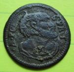 D/ GUBBIO, Benedetto XIV (1740-1758) Æ Quattrino 2.18 gr. Berman 2843 qBB