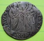 D/ ROMA, Paolo II (1464-1471) AR Grosso 3.15 gr. Muntoni 21 Berman 402 MB/BB