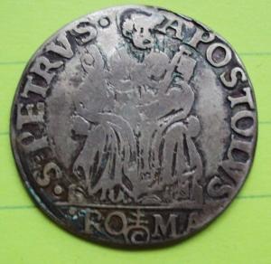 D/ ROMA, Pio IV (1559-1565) AR Testone 8.93 gr. Muntoni 9 MB/BB
