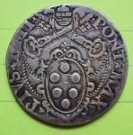 R/ ROMA, Pio IV (1559-1565) AR Testone 8.93 gr. Muntoni 9 MB/BB
