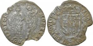 D/ URBINO. Francesco Maria II della Rovere (1574-1624). AR 2 Sedicine or 32 Quattrini 2.82 gr. Cavicchi 203. Non comune BB