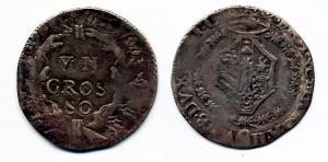 D/ URBINO. Francesco Maria II della Rovere (1574-1624) AR Grosso 2.14 gr. Cavicchi 219 non comune BB