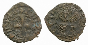 D/ VENEZIA. Antonio Venier (1382-1400). MI Tornesello 0.51 g. Pao. 826. BB