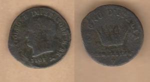 D/ VENEZIA, Napoleone I (1805-1815) Centesimo 1808 IMPERATORR Gigante 240 var. rarissima MB/BB