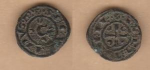 D/ BRINDISI, Corrado II (1254-1258) Denaro 0,55 gr. MEC XIV, 597 BB