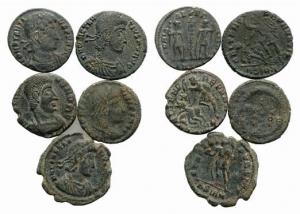 D/ lotto di 5 monete tardo romane da classificare LOT SOLD AS IS, NO RETURN