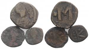 D/ Lot of 3 Byzantine Æ coins, to be catalog. lotto di 6 monete antiche da classificare LOT SOLD AS IS, NO RETURN